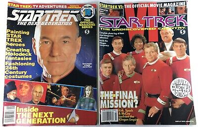 1991 STAR TREK Magazines LOT Next Generation & The Undiscovered Country Official