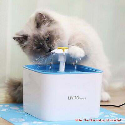 2.5L Automatic Cat Dog Water Drinking Flower Fountain Pet Bowl Drink Dish Filter