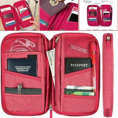 Passport Holder ID Card Travel Bag Wallet Cover Protector Organiser Case Pouch