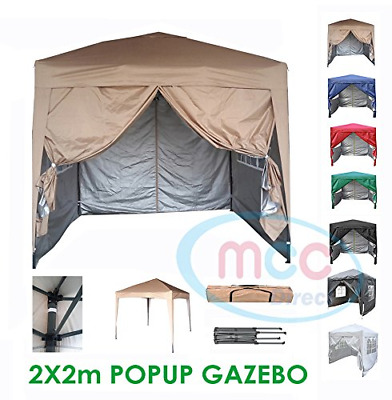 MCC@home Premier 2x2m Waterproof Pop-up Gazebo with Silver Protective Layer WS