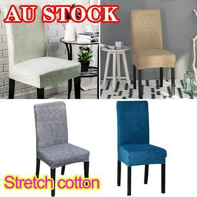 2/4/6/8pcs Dining Chair Covers Stretch Cover Protector Slipcover Washable Cotton