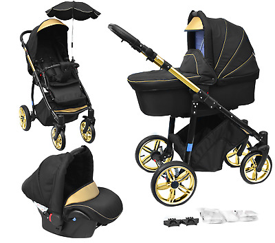 Baby Pram Newborn Buggy Car Seat Pushchair Travel System Carrycot Birth 3in1 NEW