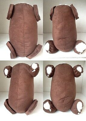 Dark Brown Faux Suede Body For Ethnic Reborn Baby Or Monkey- Multiple Variations