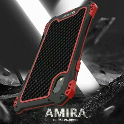 Shockproof Metal Carbon Fiber Armor Case Cover For iPhone XS MAX XR 7 8 Plus 6S