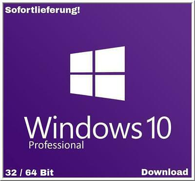 Windows 10 Pro Professional 32/64 Bit - 1 PC - KEY + Anleitung - Sofortlieferung