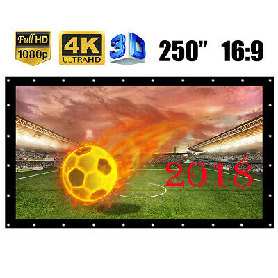 250'' 16:9 HD Projector Screen Football Match Home Cinema Theater KTV Projection