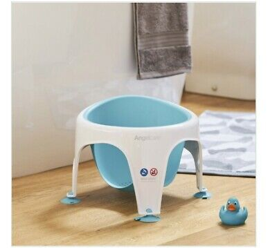 Angelcare Baby Sit Up Bath Safety Seat. Aqua Blue. Soft Touch. Rrp £31.99