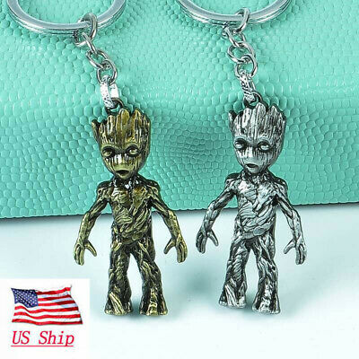 USA Marvel Avengers Guardians of the Galaxy Groot Alloy Key Chains Key Ring Gift