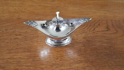 Antique sterling silver wick and spirit table lighter Birmingham 1912.