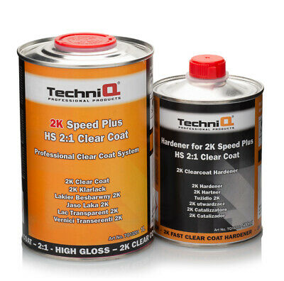 1.5L 2K High Gloss HS TechniQ Clearcoat Lacquer Kit Inc. Fast Drying Hardener