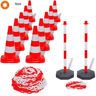 Plastic Warning Chain Reflective Traffic Cones Chain Post Caution Safety Barrier