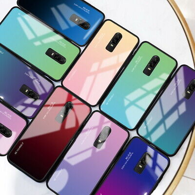 Tempered Glass Hard Back Cover Soft Edge Protect Case For OnePlus 6T 7 Pro