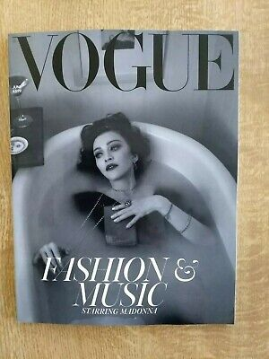 UK Vogue Magazine Fashion And Music Starring Madonna Subscribers Issue