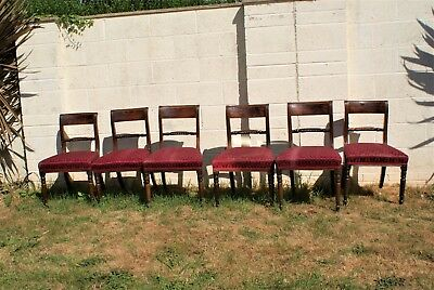 Gillows rope back set of six  mahogany dining chairs