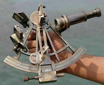 "Nautical Marine Antique Navigational Astrolabe Instrument Brass Sextant 8"" Gift"