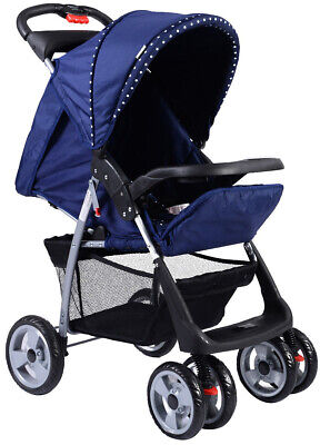 Baby Stroller Kids Foldable Travel Seat Safety Belt With Cup Holder and Basket