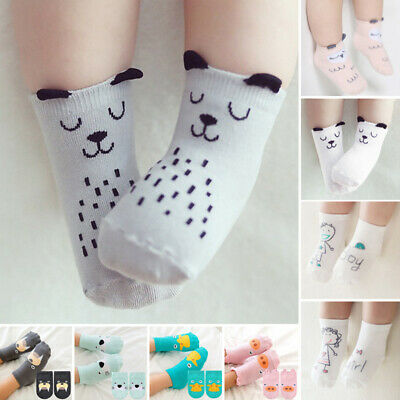 Newborn Baby Kid Toddlers Cute Cartoon Cotton anklet Socks Grey-Puppy-S-Size
