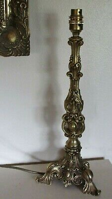 Vintage Solid Brass Gold Ornate French Rococo Table Lamp Base Shabby Chic