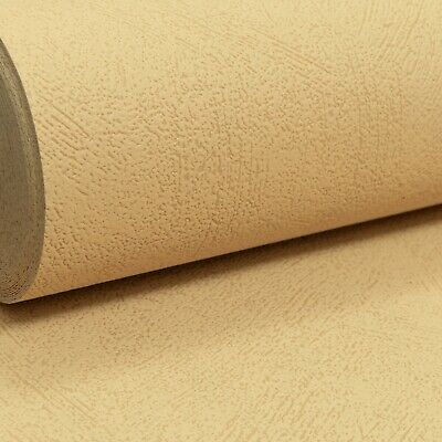 Grandeco Plain Textured Mustard Yellow Paste the Wall Vinyl Wallpaper A27006