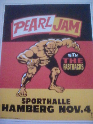 Pearl Jam Hamberg 1996 No Code Tour Poster Small 14x11cm from Book to Frame?