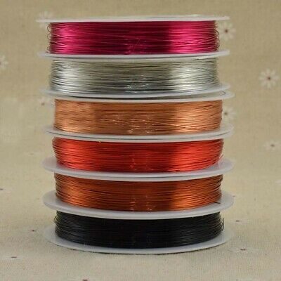 1pcs Reel Of Copper Wire Craft Jewellery Making 025mm/0.3mm Choose Size Colour