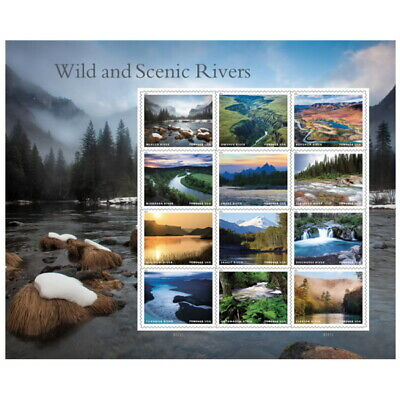 USPS New Wild and Scenic Rivers Pane of 12