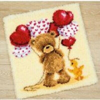 "Latch Hook Rug Kit""Teddy and Balloons"" 55x60cm"