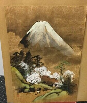 Vintage NISHINOMIYA  Japanese Woodblock VTG. Print  signed and stamped. UNFRAMED