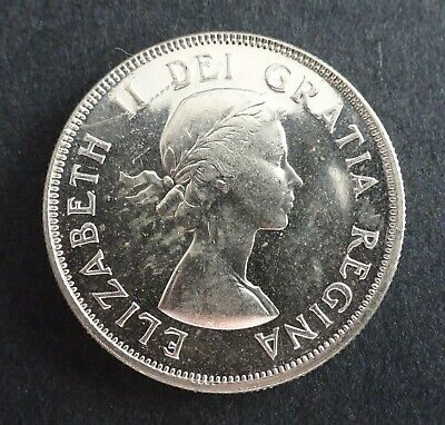 1953 Canadian Fifty Cent Coin MS60