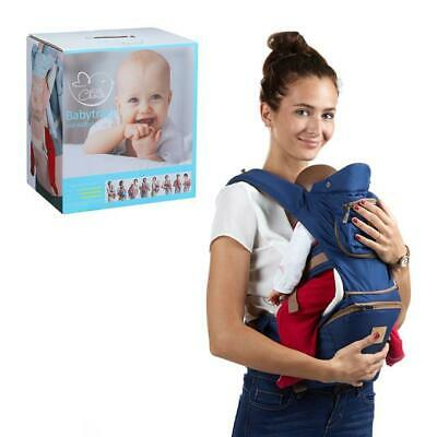 New Blue Adjustable Sport Breathable Infant Newborn Baby Carrier with Hip Seat