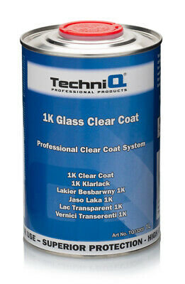 1 LITRE 1K CLEAR COAT LACQUER / HIGH GLOSS / UV / READY FOR USE / TechniQ GLASS