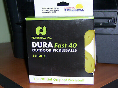 Durafast Pickleballs by Pickleball, Inc. (DuraFast 40), Neon 4-Pack New in box