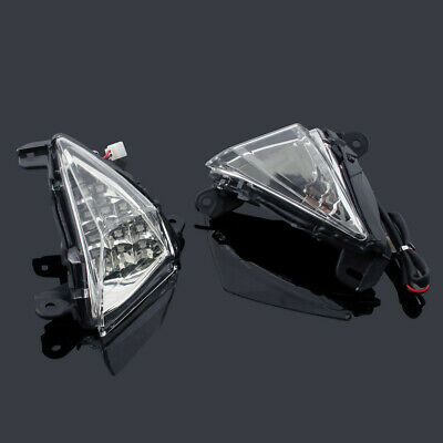 Front LED Turn Signals Blinker For Kawasaki ZX 6R 10R Ninja 650F Concours Clear/