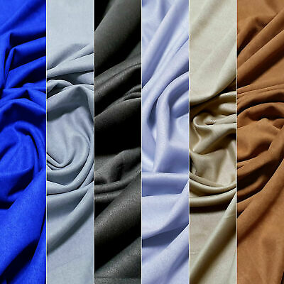 Heavy 4-Way Stretch Soft Polyester Faux Suede Fabric Upholstery Craft Jacket 56""