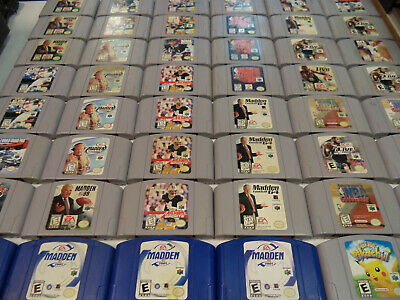 Wholesale Lot of 50 Nintendo 64 Games ~ Contacts Cleaned & Tested ~ N64