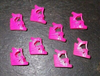 BARBIE DOLL SHOES j8 - 4 PAIRS of MODERN PINK WEDGE SANDALS