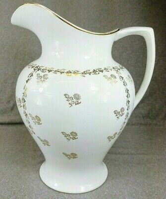 Antique Homer Laughlin Wash Pitcher 1904-1905 Duchess Shape White Gold