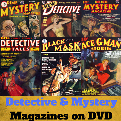 Pulp Mystery Detective & ThrillerCollection - 218 PDF Magazines on 2 Data DVD's