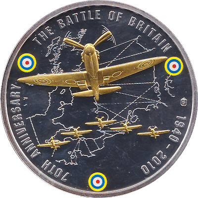 2010 Proof 70th Anniversary Battle Of Britain SPITFIRE Coin