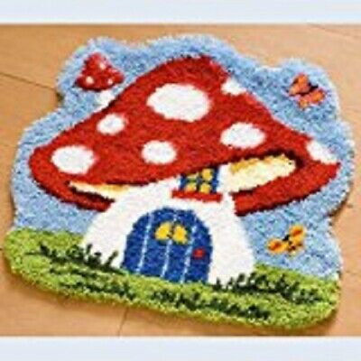 "Latch Hook Rug Kit""Toadstool House"" 52x45cm Shaped"