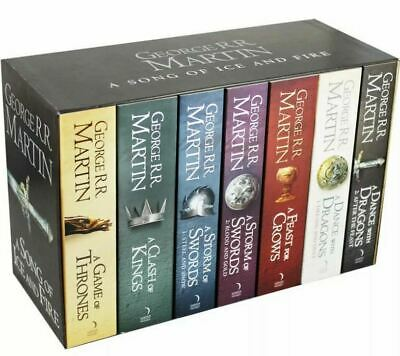 Game of Thrones SEALED Complete Paperback 7 Book Set George R R Martin *FREE P&P