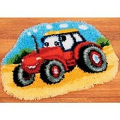 """Latch Hook Rug Kit""""Tractor"""" 52x38cm Shaped"""