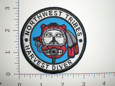 Wa Washington Northwest Indian Tribes Indianer Harvest Diver Tribal Patch