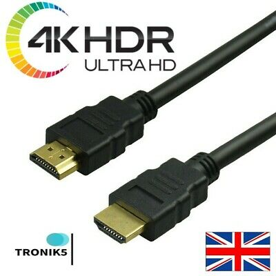 HDMI Cable 1m 1.5m 3m 5m 10m High Quality* UK Seller* 1st Class Shipping* 99p 1M