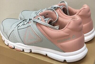 Reebok Womens Yourflex Trainette Size 10 Grey/Pink/White *Free Shipping*