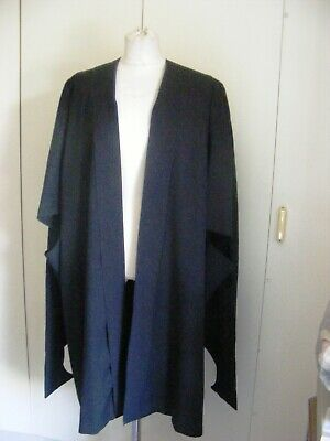 Vintage black polyester university graduation gown Ryder Amies Cambridge Large