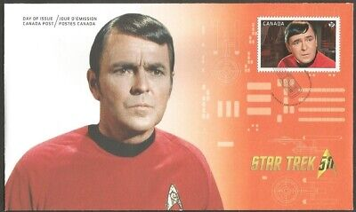 "Canada Fdc,Canada 2016 Star Trek -Scotty ""P"" Stamp Canada Post Cover Vancouver"