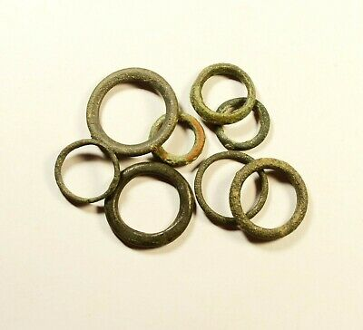 Exchange Before Coins - Rare Lot Of 8 Celtic Bronze Proto-Money Rings -09