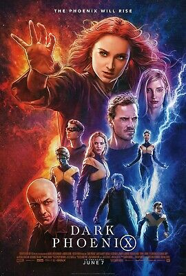 Dark Phoenix X-Men 27x40 Original Theater Double Sided Movie Poster Marvel