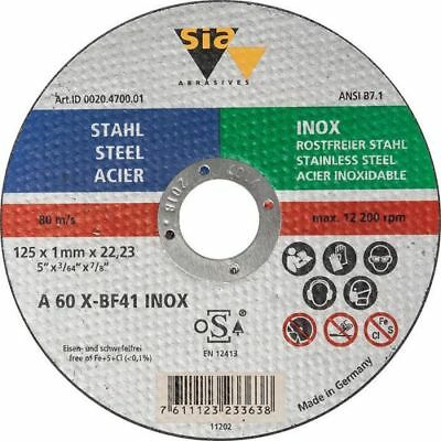 Cutting Disc Flat Stainless/Steel Professional 230x2x22 Sia Abrasives